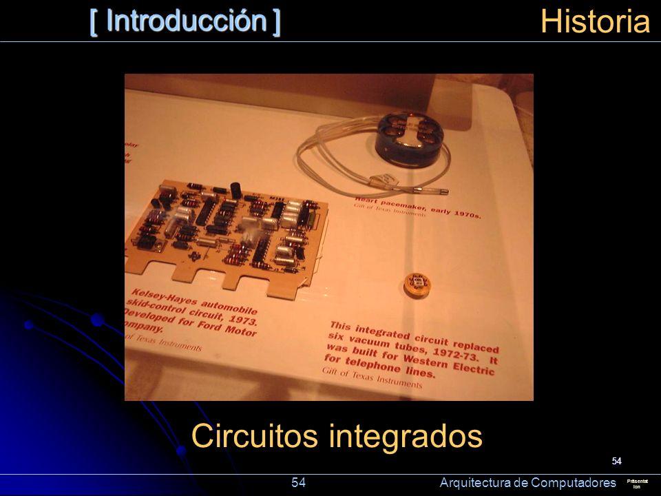 Historia Circuitos integrados [ Introducción ]